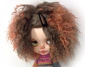 Ooak ...flame tip  ,bLYTHE wig ..or ( SD 10 )..mongolian fur