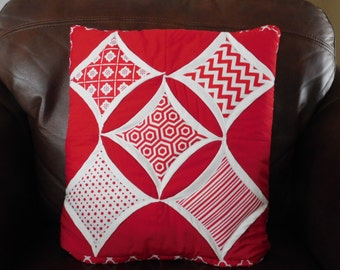 Pillow, Quillow, Quilt throw, Lap Quilt - Cathedral Window