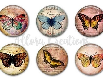 Butterfly Magnets, Fridge Magnets, Magnet Set, Kitchen Magnets - M003