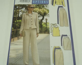 Butterick Fast And Easy Misses'/ Misses' Petite Jacket, Top, Skirt And Pants Pattern 5941 Size 14, 16,18