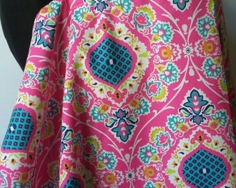 Nursing Cover, Breastfeeding Feeding Cover, Nursing Cover Up,  Hot Pink Medallion