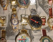 Antique -Childrens Toy Watches - 23 On Original JAPAN Store Display Card -Adorable -Great Find