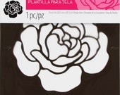 Tulip Textile Rose Stencil