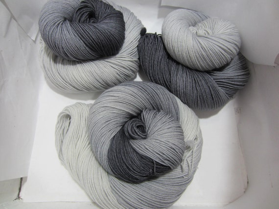 A Shade Between - Dyed to Order - Hand Dyed - Merino Wool Yarn - Fingering Weight