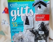 Cloth Paaper Scissors Gifts, used magazine, Holiday 2011-12, craft book, sewing book, paper collage book
