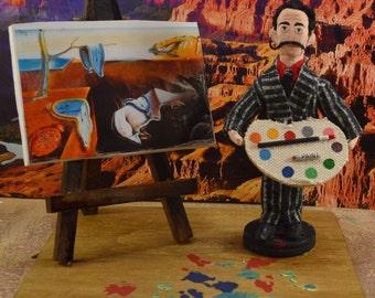 Salvador Dali Doll Miniature Diorama Scene Unique Collectible Famous Artists
