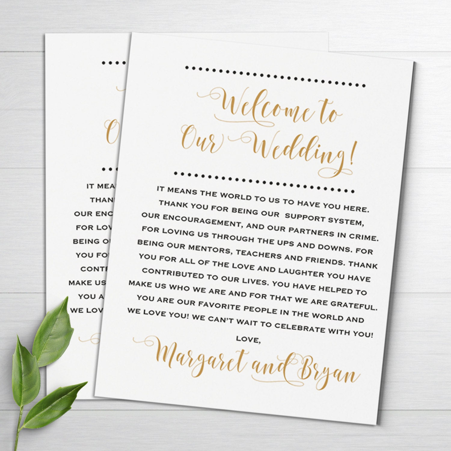 Wedding Notes: Wedding Welcome Notes Wedding Itinerary Welcome Letters