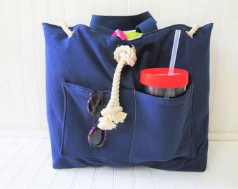 Beach Bag - Waterproof Beach Bag - Custom Beach Bag - Outside Pockets -