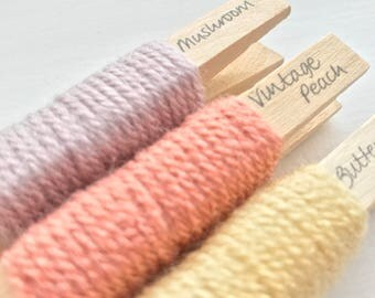 Top-Up Pack for Stylecraft Special DK yarn pegs - Mushroom, Buttermilk and Vintage Peach