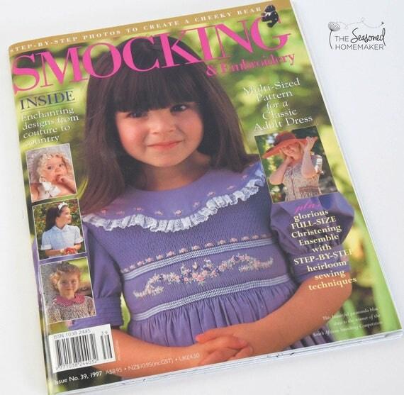 Australian Smocking & Embroidery Magazine - Issue No. 3 - Smocking Needlework Patterns - Needlework Tutorial - Smocking Tutorial