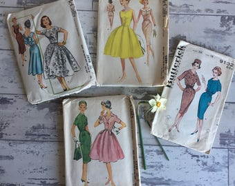 Vintage 1950s Patterns - Bust 32-34 - Lot of 4 from Clean Estate!