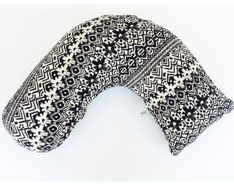 NURSING PILLOW SLIPCOVER/ A&A Boomerang style pillow cover / Jersey knit print / envelope closure / Great baby shower gift