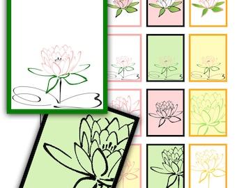 SALE - Lotus Blossom Printable Planner Stickers