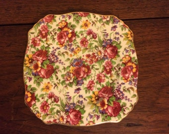Royal Winton Summertime Chintz Bread and Butter Plate 1995