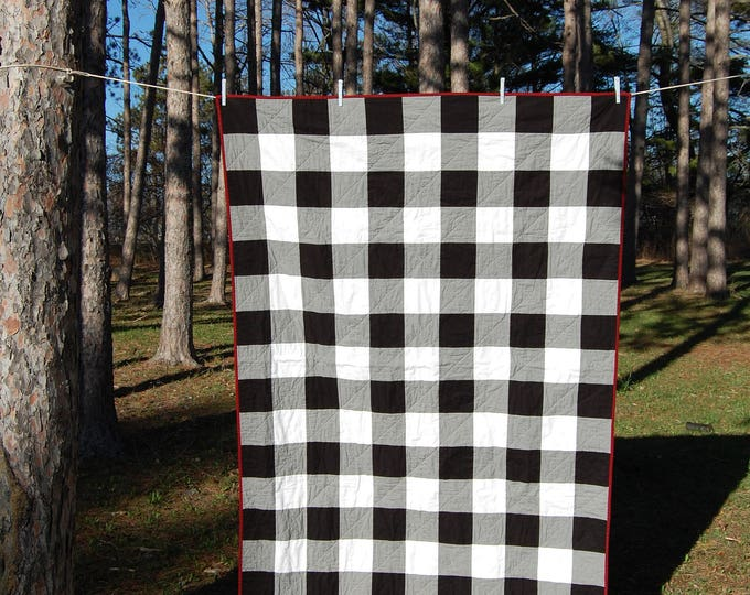 CLEARANCE Gingham Throw Quilt