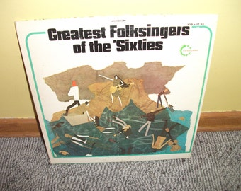 Greatest Folksingers of the Sixties Vinyl Record Album  NEAR MINT Double Album Set