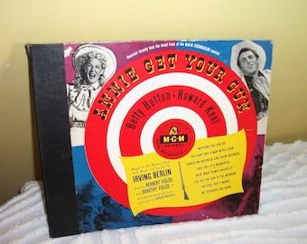 Annie Get Your Gun Soundtrack Musical 78 rpm Vinyl Record Album Set, Betty Hutton, Howard Keel