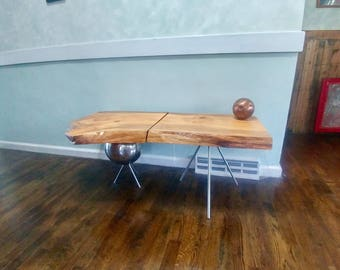 Live Edge Coffee Table Pair - Set of 2 - Salvaged Wood