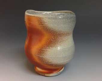 Yunomi. Bourbon Cup. Whiskey Sipper. Soda Glazed Stoneware Pottery