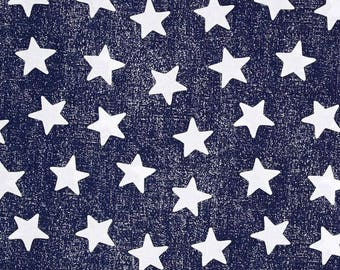 "STARS TABLE RUNNER Colors, 11"" wide runners,  or Napkins,  Placemats, navy blue with white stars, table Runners, Memorial Day, Independence"