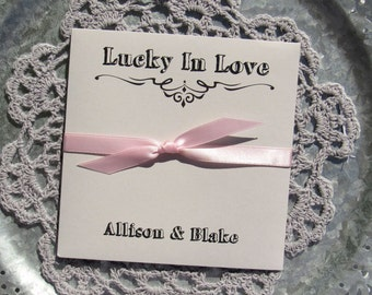 Wedding Favors Grey - Lucky In Love Favors - Summer Wedding Favors - Wedding Lottery Ticket - Wedding Lotto Ticket Favor - Rustic Wedding