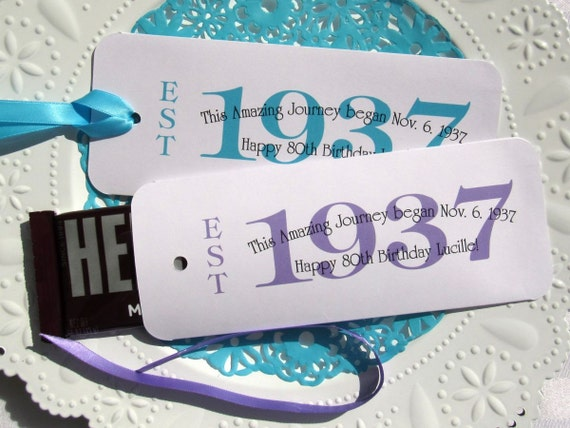 80th Birthday 80th Party Favors Favors For 80th Birthday 1937 Favors 80th Birthday