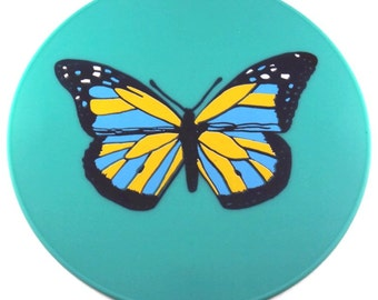 Turquoise Silicone Butterfly Table Trivet Kitchen Hot Pad Table Placemat