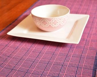 Log Cabin Table Runner PDF digital download pattern rigid heddle weaving