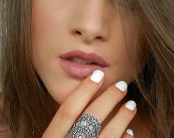Chunky Hippie Ring, Chunky Hippie Jewelry, Sterling Silver Wide Rings, Wide Hippie Ring, Hippie Jewelry Chunky Ring, Wide Hippie Silver Ring