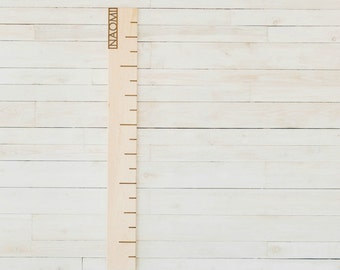 Maple Personalized Growth Chart Wooden Ruler - Wall Art - Growth Chart - Wood Height Chart - Personalized Growth Chart - Height Chart -DR16