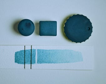 Half Pan or Small Cap - Breeze Light Blue, Anthesis Arts Artisanal Handcrafted Handmade Watercolor Paints, Choose Your Size