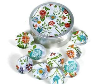 Glass Push Pins  Thumb Tacks Cork Board Pins in Lisa  with Gift Tin (PT113)