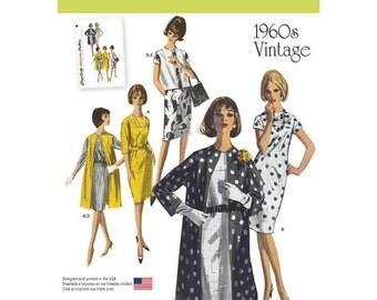 Mid Century Dress Pattern ~  Simplicity 1284 ~  Vintage 1960's Dress, Coat, Vest Pattern