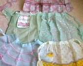 Lot Organza Vintage Aprons,1950s, Excellent Condition