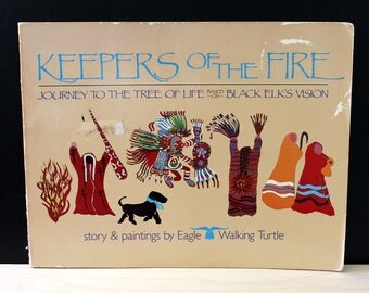 Keepers of the Fire. Vintage 1980s Native American folktale book. First Edition.
