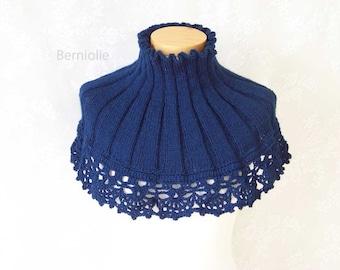 ANNIKO, knitting & crochet cowl pattern, PDF