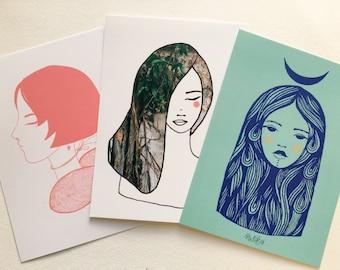 The goddess set of postcards