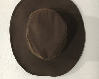 Vintage Brown Outback Leather Hat size Small