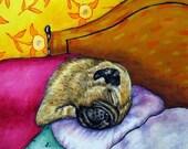 30% off Pug Sleeping Dog Art Tile