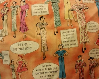 scrap of girls and quotes fabric