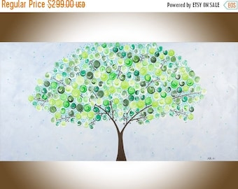 """Large wall art landscape painting Original art painting on canvas home office wall décor wall hanging """"Spring Celebration"""" by qiqigallery"""