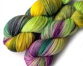 Hand Dyed Yarn Merino Cashmere Nylon Sock Yarn - New Napa
