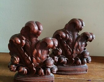 Vintage Acanthus Leaves Bookends