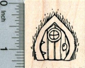 Fairy Door Rubber Stamp, Irish Folklore D31810 Wood Mounted