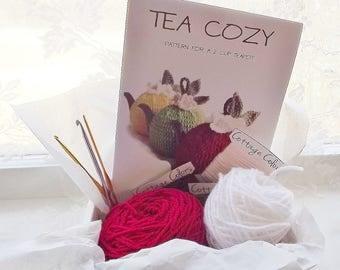 DIY Tea Cozy Kit, Make It Yourself Tea Cozy, 2 Cup Teapot Tea Cozy Kit, All Inclusive Teapot Kit, Crochet Tea Cozy Kit
