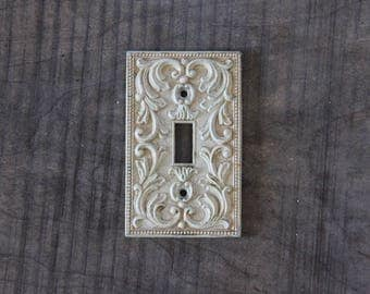 Midcentury Metal Light Switch Plate Cover