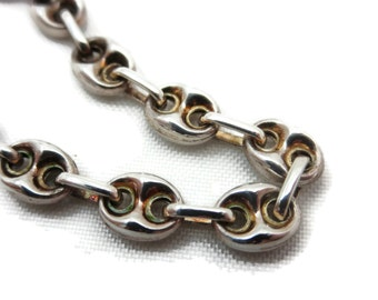 Sterling Silver Bracelet - Puffy Marina Chain