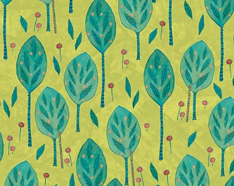 Julia Cairns Leaves Lime Quilting Treasures Fabric 1 yard