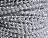 Pearl string trim 4mm Silver pearls 5 yards