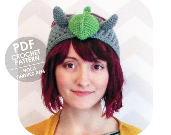 INSTANT DOWNLOAD - Kawaii totoro headband - ear warmer - PDF crochet pattern